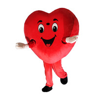 High quality red heart love mascot costume LOVE heart mascot Cosplay costume free shipping can add logo