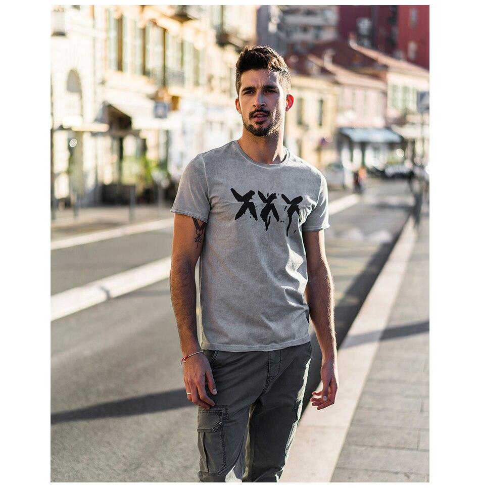 HTB1r18Umv5TBuNjSspmq6yDRVXaG - SIMWOOD 2019 Summer Vintage T Shirt Men Slim Fit Fashion Short Sleeve Pattern Vintage Cotton Tops High Quality Tee 180142