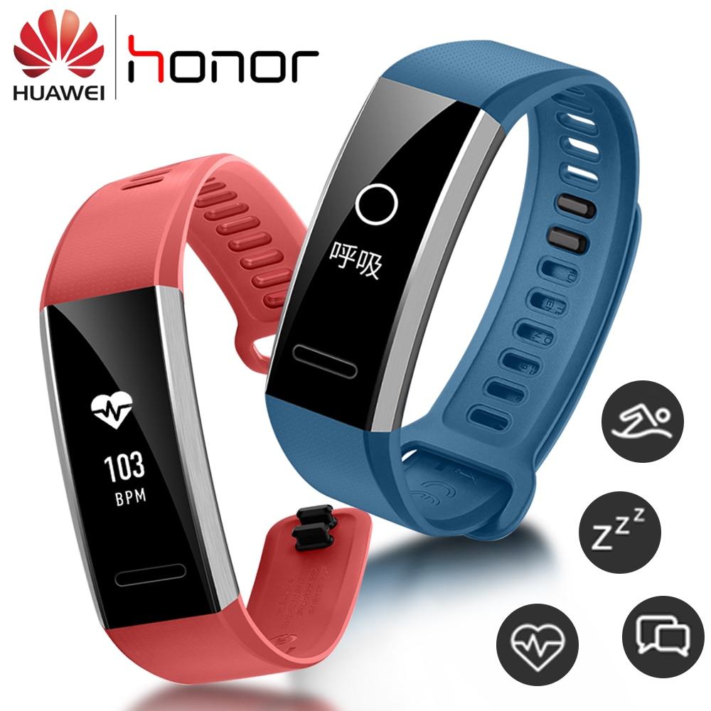 цена на Huawei Sport Smart Band 2 pro B29 B19 Sleep Heart Rate Monitor Wristband with GPS 50m Swim Waterproof Bluetooth OLED Bracelet