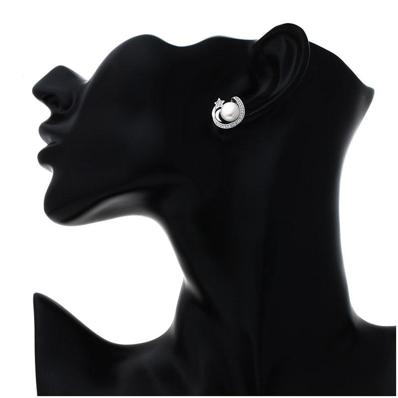 Hongye uusi muoti 925 hopea tähti ja luonnollinen makeanveden helmi - Hieno korut - Valokuva 6