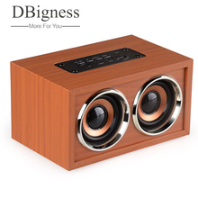 Dbigness Portable Bluetooth Speaker Hifi Soundbar Wireless Bass Support TF FM Subwoofer with Microphon for Phone