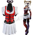 Harley Quinn Cosplay Costume Batman Arkham Asylum Cos Dresses Halloween Uniforms For Women Girls