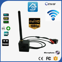 Wireless Camera Wifi IP 1080P Mini Wifi IP Camera 2.0MegaPixels 3.7mm Pinhole Lens H.264 Onvif Security Wifi Camera CCTV Audio