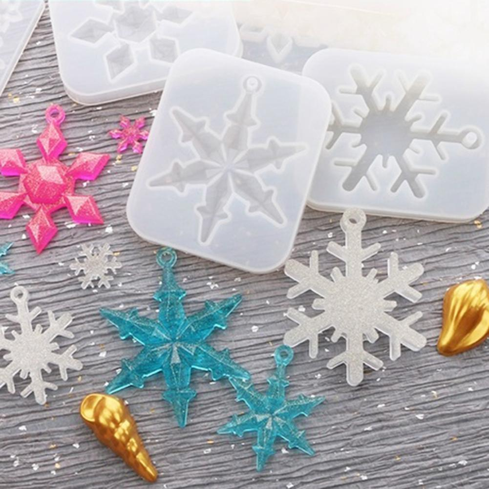 Cute Making Supplies Craft Snowflake Shape Silicone Mold DIY Jewelry Pendant Charm Fashion Handcraft Handmade Mouds Trendy