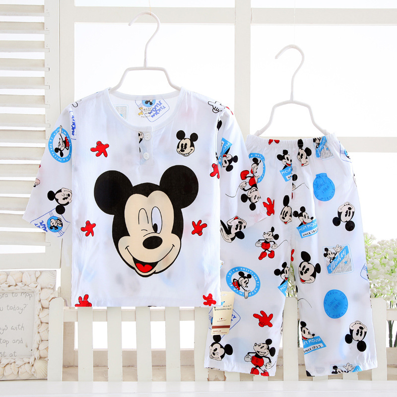 Hot 2pcs/set Baby Boy Outfit Set Summer Children 1-10years pajamas Sets Girl Clothing Suits Short Sleeve Toddler Home Clothes baby boy set clothes winter baby lion girl sets clothing cotton new born long sleeve pajamas set baby outfit girls toddler suits