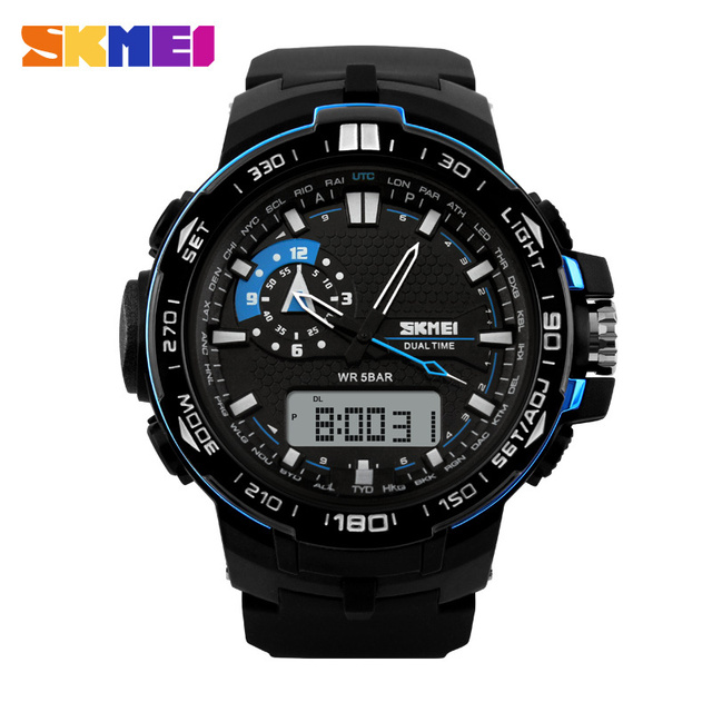 2017 Men's Quartz Digital Watch Men Sports Watches Relogio Masculino SKMEI S Shock Relojes LED Military Waterproof Wristwatches