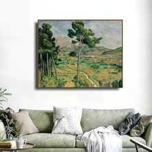 Mount Saint Victor by Paul Cezanne Famous Canvas Painting Calligraphy Poster and Prints For Home Living Room Wall Art Decoration