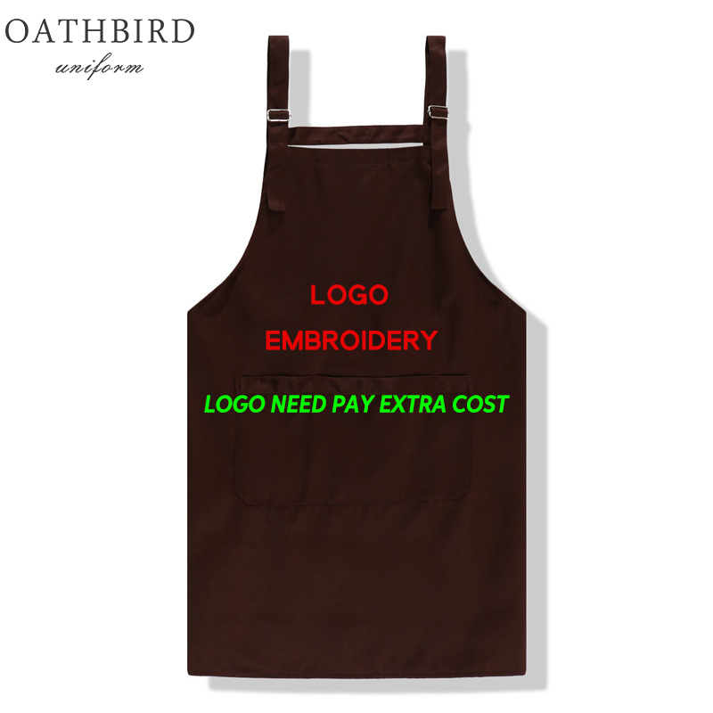Custom Logo Embroidery Apron For Cook Uniform Promotion Gift Print Your Own Text Or Logo Advertising Gift