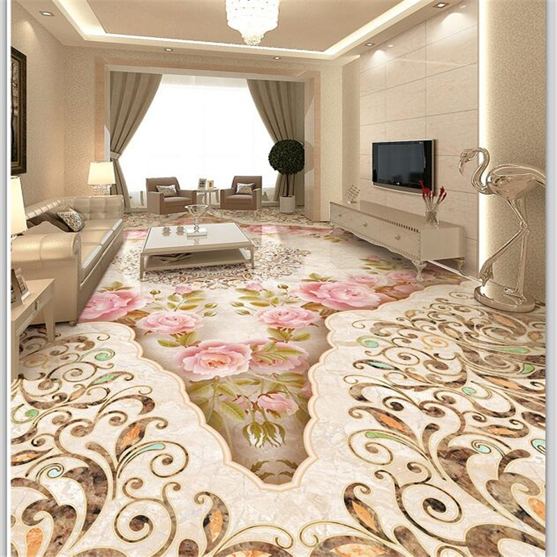 Beibehang Custom Floor Decoration Painting 3d Self Stick Stone