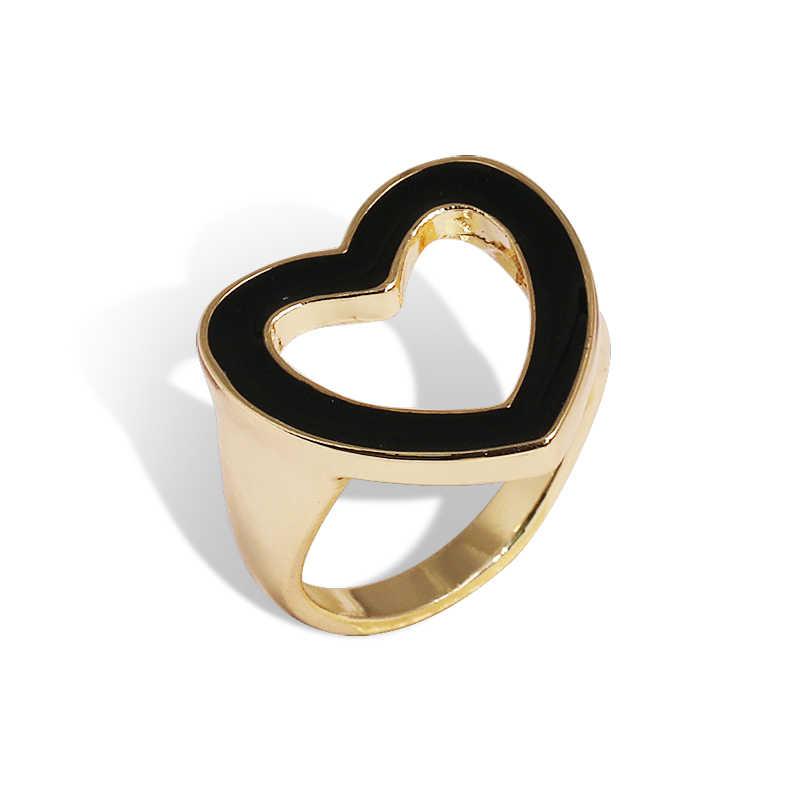 2019 ใหม่แฟชั่นรูปหัวใจแหวนสำหรับสตรีของขวัญ Simple แหวนหัวใจ Femme เครื่องประดับ AMBRE หัวใจแหวน