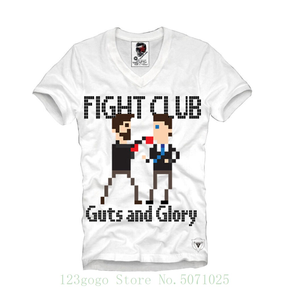 T Shirt Fight Club Pixel 8bit Gamer Retro Boxer 2411v Different Colours High Quality image