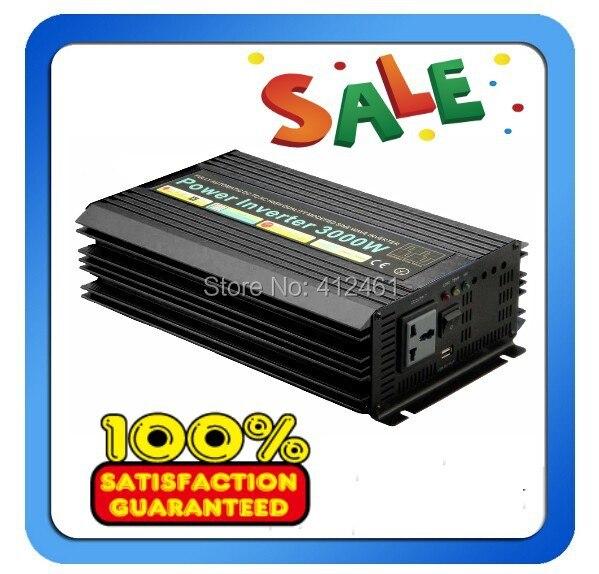 High quality 3000W Pure sine wave inverter 110/220V AC 12/24VDC, PV Solar Inverter, Power inverter, Car Inverter Converter