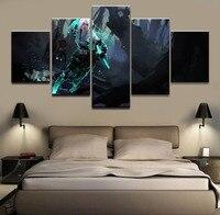 5 개 추상 그림 캔버스 HD 인쇄 게임 포스터 Witcher 3 야생 사냥 홈 장식 프레임 벽 예술 모듈 Pictu