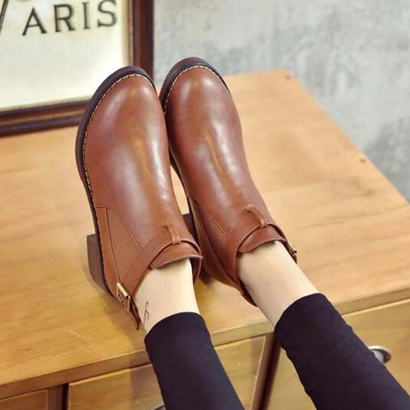 2017 Fashion Womens Booties Casual Ankle Boots Autumn Casual Flats Shoes Lady aa0494 in Knee High Boots from Shoes