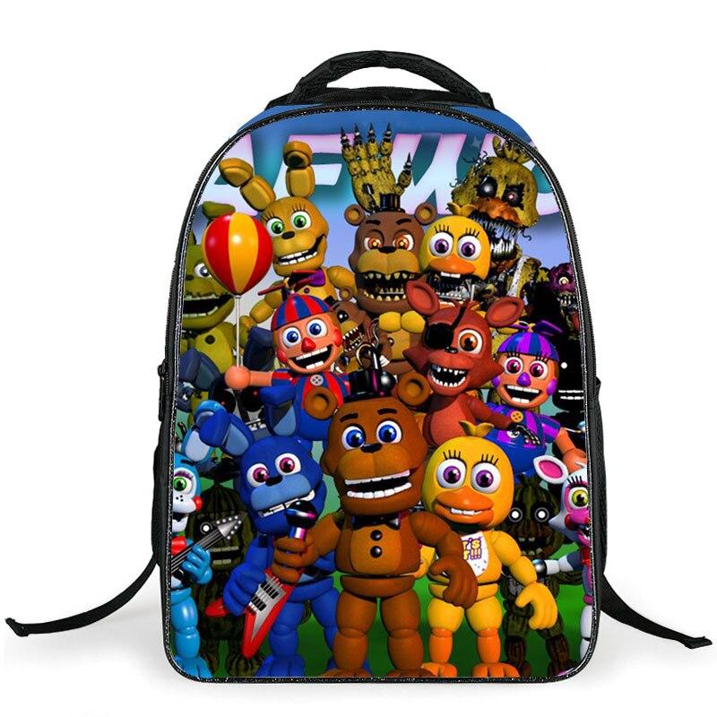 16-inch Cartoon Five Nights At Freddys School Bags Backpack Children Schoolbags For Teenagers Boys Girls School Book Bag Kids
