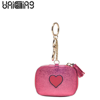 UniCalling New style Fashion women coin purse Split Leather mini wallet women Solid Color Cartoon small women coin purse