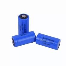 2 قطعة 3 فولت CR123A خلية بطارية ليثيوم 1300mah CR123 CR17335 بطارية أساسية جافة للكاميرا