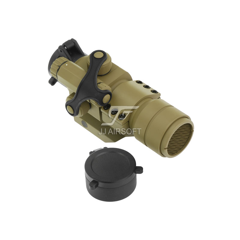 JJ Airsoft M2 Red Dot with Cantilever Mount & Killflash/kill flash (Tan) Replica FREE SHIPPING(ePacket/HongKong Post Air Mail) jj airsoft micro 1x24 red dot with killflash kill flash