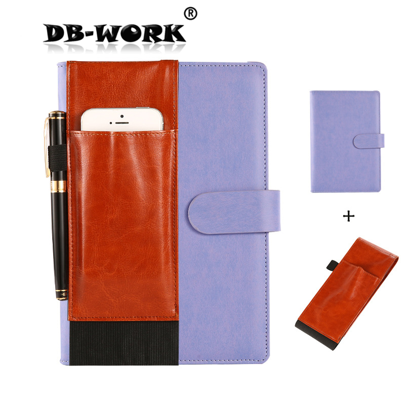 2019 New Style Business Leather Notebook Creative function button bag to carry for the notebook2019 New Style Business Leather Notebook Creative function button bag to carry for the notebook