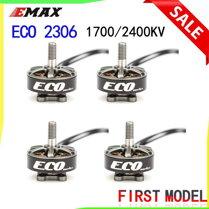 Emax ECO Series 2306 Motor 1700KV 3~6s /2400KV 2~4s Durable Motor for DIY Racing FPV Drone RC Helicopter  4PCS(China)