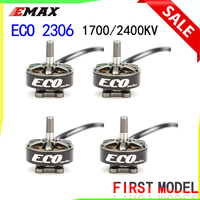 Emax ECO Series 2306 Motor 1700KV 3~6s /2400KV 2~4s Durable Motor for DIY Racing FPV Drone RC Helicopter 4PCS