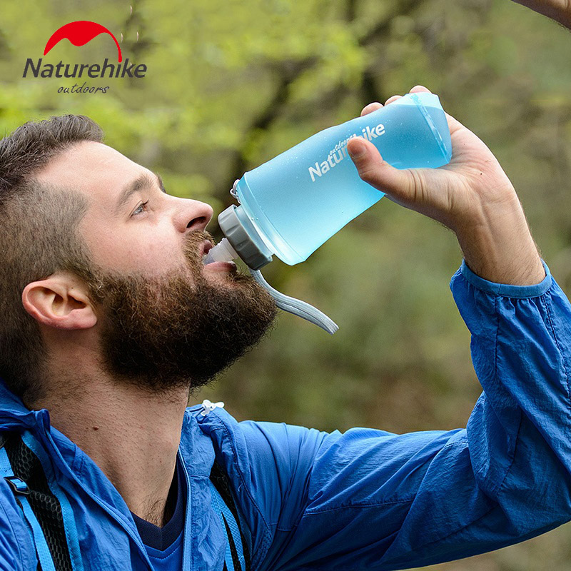 500ml 750ml खाद्य ग्रेड TPU तह पानी - कैम्पिंग और लंबी पैदल यात्रा