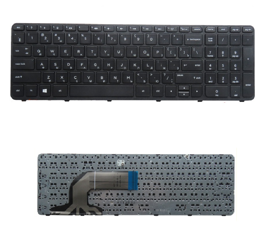 SSEA New Russian Keyboard With Frame For HP 350 G1 355 G2 Laptop black RU Keyboard цена