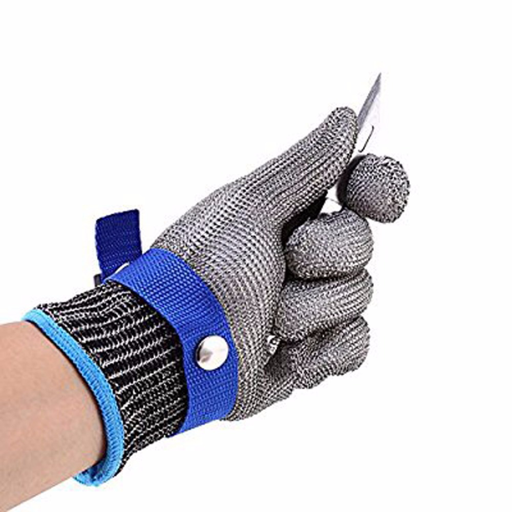 1PCS Safety Cut Proof Stab Resistant Stainless Steel Metal Mesh Butcher Glove