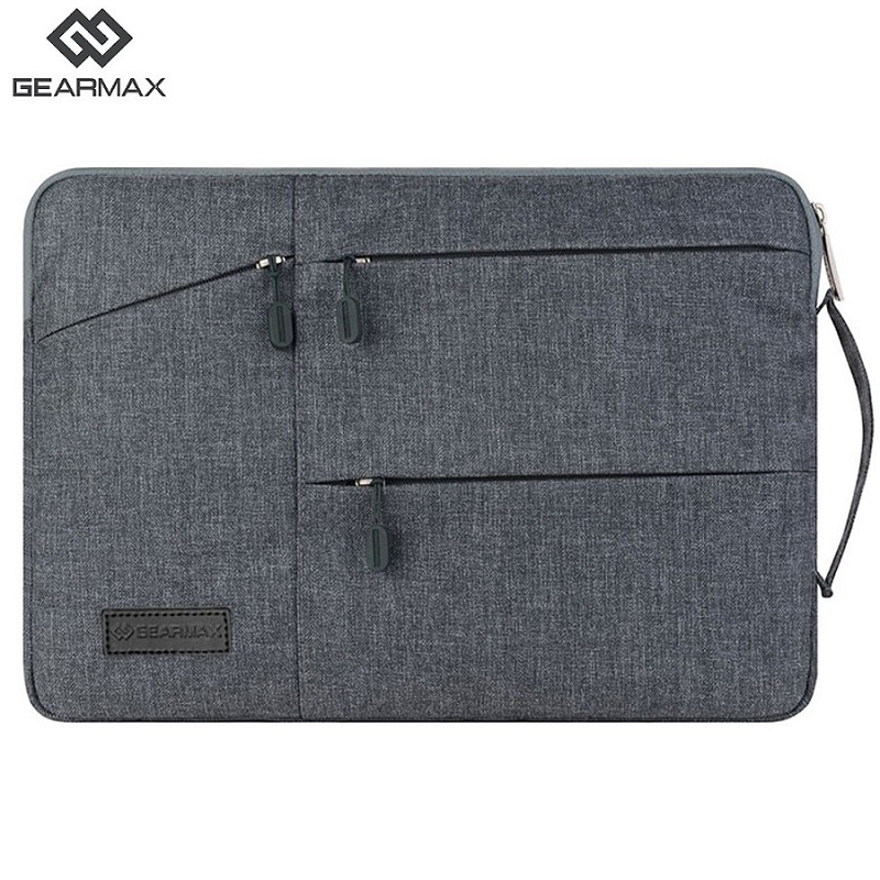все цены на Gearmax Laptop Bag 11 12 13 14 15 15.6 Laptop Bag Black Gray Case For Macbook Air 13 Case For Macbook Air Pro 13 15 Bags Nylon