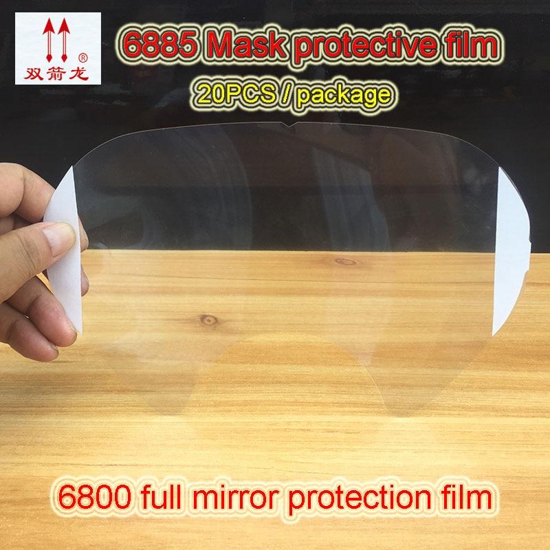 SJL 6885 Full mask protective film 6800 Series mask dedicated Protective film Scratch resistant Full mask Mirror Diaphragm
