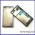 Carcaça do telefone móvel original para sony xperia z3 l55 l55w d6603 D6653 Placa Oriente Moldura Quadro LCD chassis com a Tampa Da Ficha de Poeira