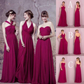 2017 Bohemian Long Chiffon Bridesmaid Dresses Cheap Pleats Backless V-neck Halter Neck Maid Of Honor Dress