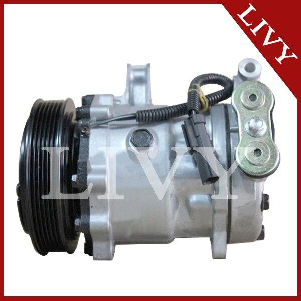 US $124 42 11% OFF|High quality Sanden 7h15 709 Car ac compressor for Dodge  Dakota 2 5L Cherokee Wrangler SD7H15 4729 709 compressor-in