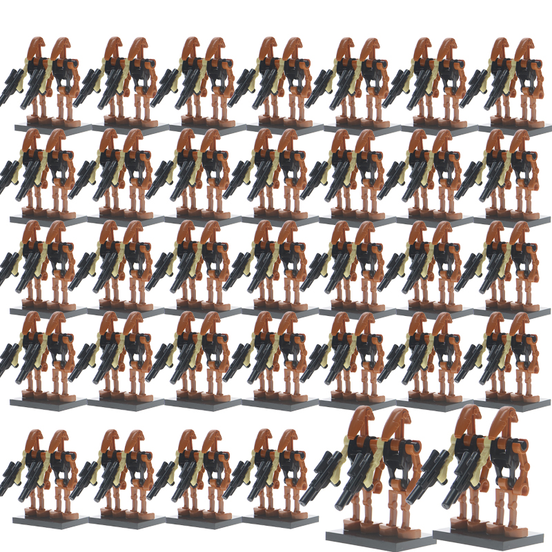 100Pcs/Set Legoelys Star Wars Super Battle Droid Security Pilot K2So Figures Starwars Model Set Building Blocks Toys For Kid