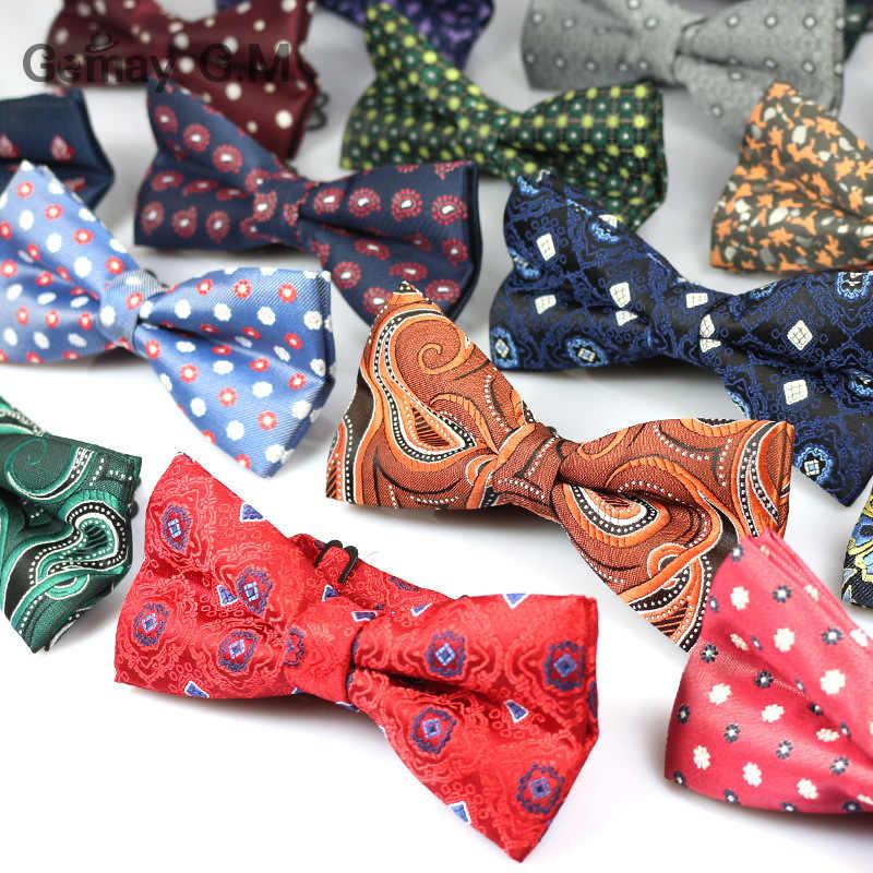 Najnowszy Bowknot męska Bowtie Cravata marka popularny krawat poliestrowy Bowtie dla mężczyzn moda oficjalne garnitury Bowtie na ślub