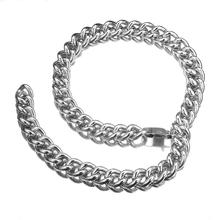 Granny Chic Mens Chain Necklace Stainless Steel Necklaces for Men Figaro Link Fashion Jewelry Wholesale 15mm 18-40inch