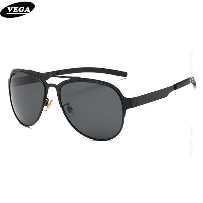 VEGA HD Vision Aviation Sunglasses Polarized Mens Military Grade Sun glasses  Flat Top Sunglasses Stainless Steel 5b6b95fa1b50
