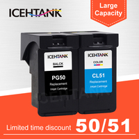 ICEHTANK PG 50 CL 51 Compatible Ink Cartridge For Canon PG50 CL51 PIXMA iP6210D iP6220D MP150 MP160 MP170 Printer Cartridges