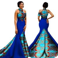 Mermaid African Dresses New Arrival Sleeveless Floor Length Women Formal Occasion Dress Africa Evening Gowns for Women WY1314