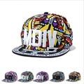 2016 Street Fashion Alphabet Graffiti Hip-Hop Hat Flat Eaves Along The Baseball Cap Men And Women Spring/Summer Hip Hop Hat