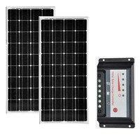 Módulo Do Painel Solar Kit 200 w Controlador de Carga Solar 12 V/24 V 20A PWM LEVOU Rua Luz Do Carro Caravan Motorhome RV Boat Marinha acampamento