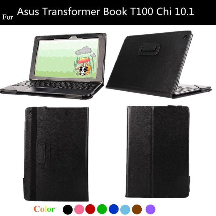 T100 CHI Lichee Pattern Flip PU Leather Case For Asus Transformer Book T100 Chi 10.1 Protect Cover + protectors flip cover for asus transformer book