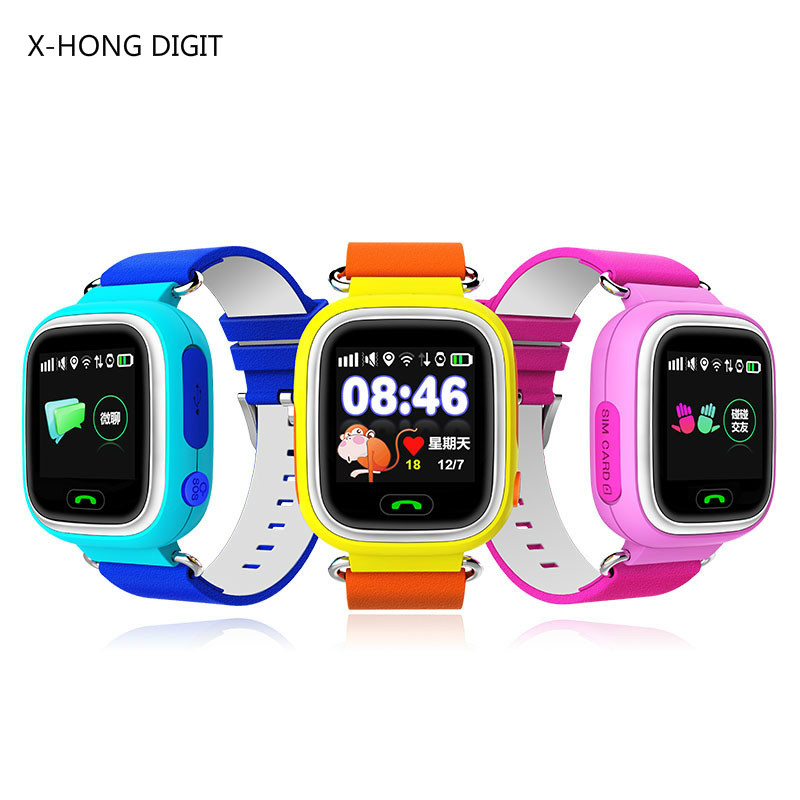 GPS smart watch baby watch Q90 with Wifi touch screen SOS Call Location DeviceTracker for Kid Safe Anti-Lost Monitor wireless service call bell system popular in restaurant ce passed 433 92mhz full equipment watch pager 1 watch 7 call button