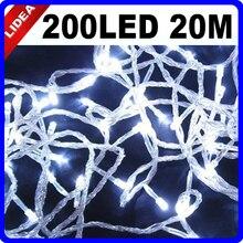 20M 200 LED 9 Colors Wedding Garden New Year Xmas Navidad Decoration Outdoor String Fairy Garland LED Christmas Light CN C-32