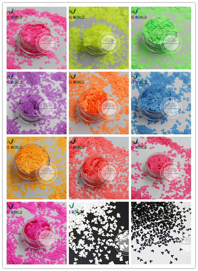 TCT 144 Mickey Mouse Neon Matte Color 4MM Solvent Resistant Glitter Nail Art Nail Gel Polish Makeup Manual DIY Crafts Decoration