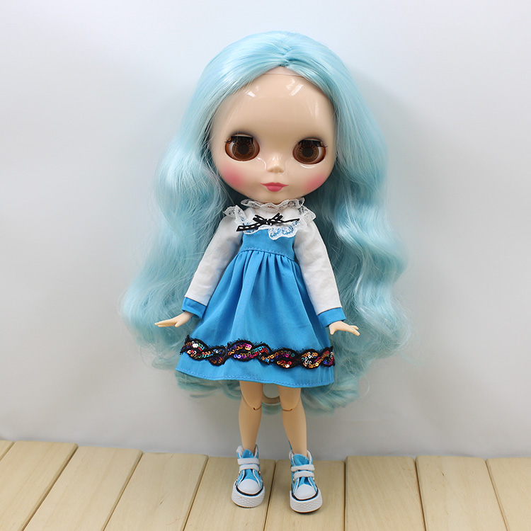joint body Nude Blyth Doll Mixed hair without bang Red