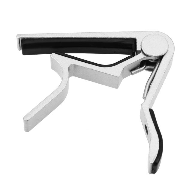 Guitar Accessories Aluminum Alloy Guitar Tuner Clamp Professional Key Trigger Capo for Acoustic Electric Musical Instruments 2