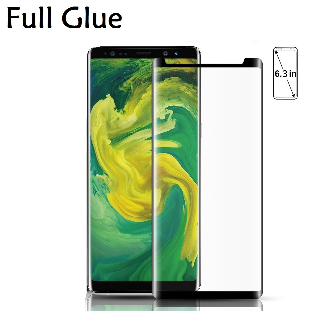 3D Full Adhesive Note 9 8 Tempered Glass For SAMSUNG S9 Case Friendly Full Glue Screen Protector Film For Galaxy S9 S8 plus S7 image