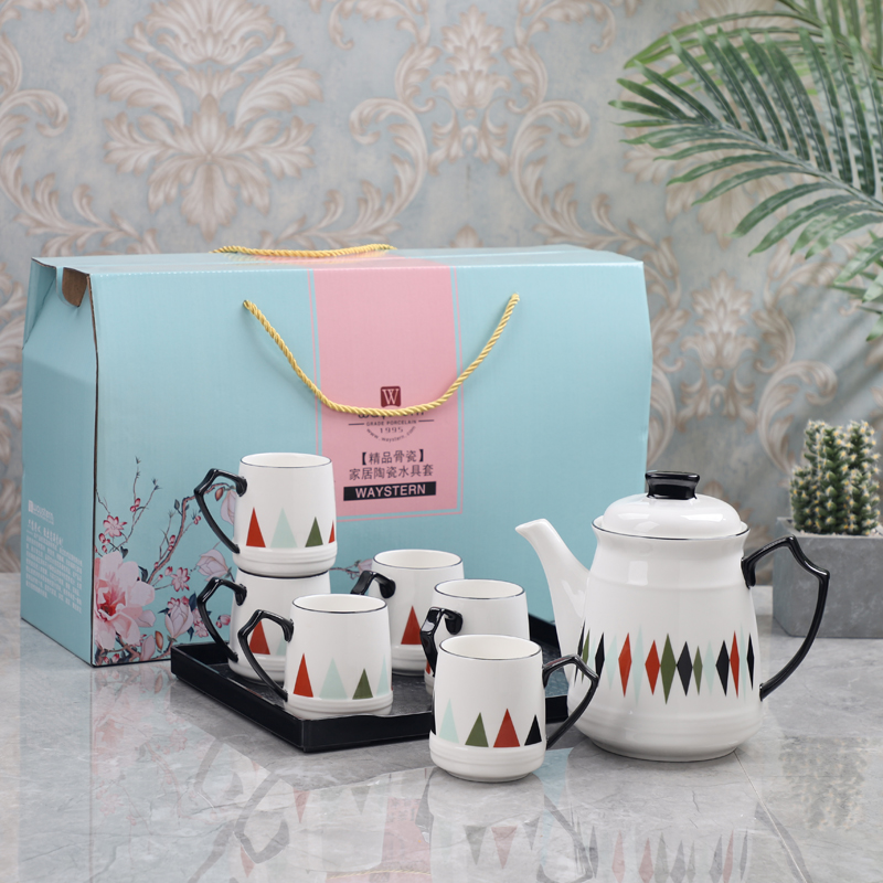 Europe tea cup set water cups Mug Cold kettle with high temperature cup coffee set porcelain teaTeapot Teatime Afternoon in Coffeeware Sets from Home Garden