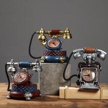 Cabina de vino modelo de teléfono de resina vintage americano, libro creativo para sala de estar de estilo europeo, decoración del hogar